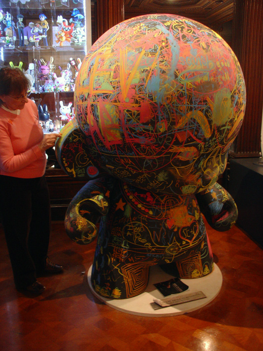 Kidrobot's Munny chalk edition sculpture