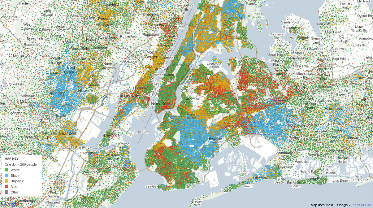 Mapping America Reveals Some Interesting Truths  Normalblog - Nyc map of boroughs