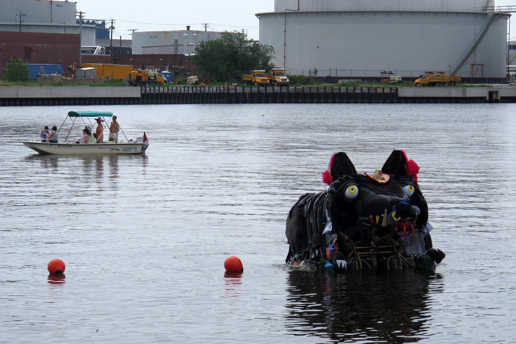 Caption This! A giant rat-bike-boat in the harbor.