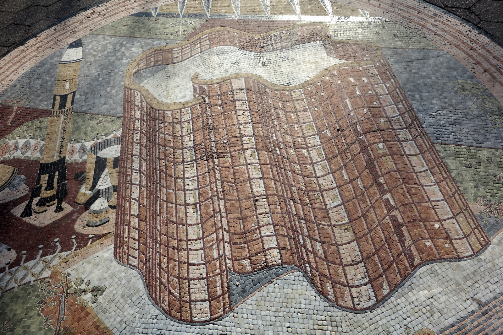 Thankfully the Great Hall mosaic didn't appear to have any patch problems.