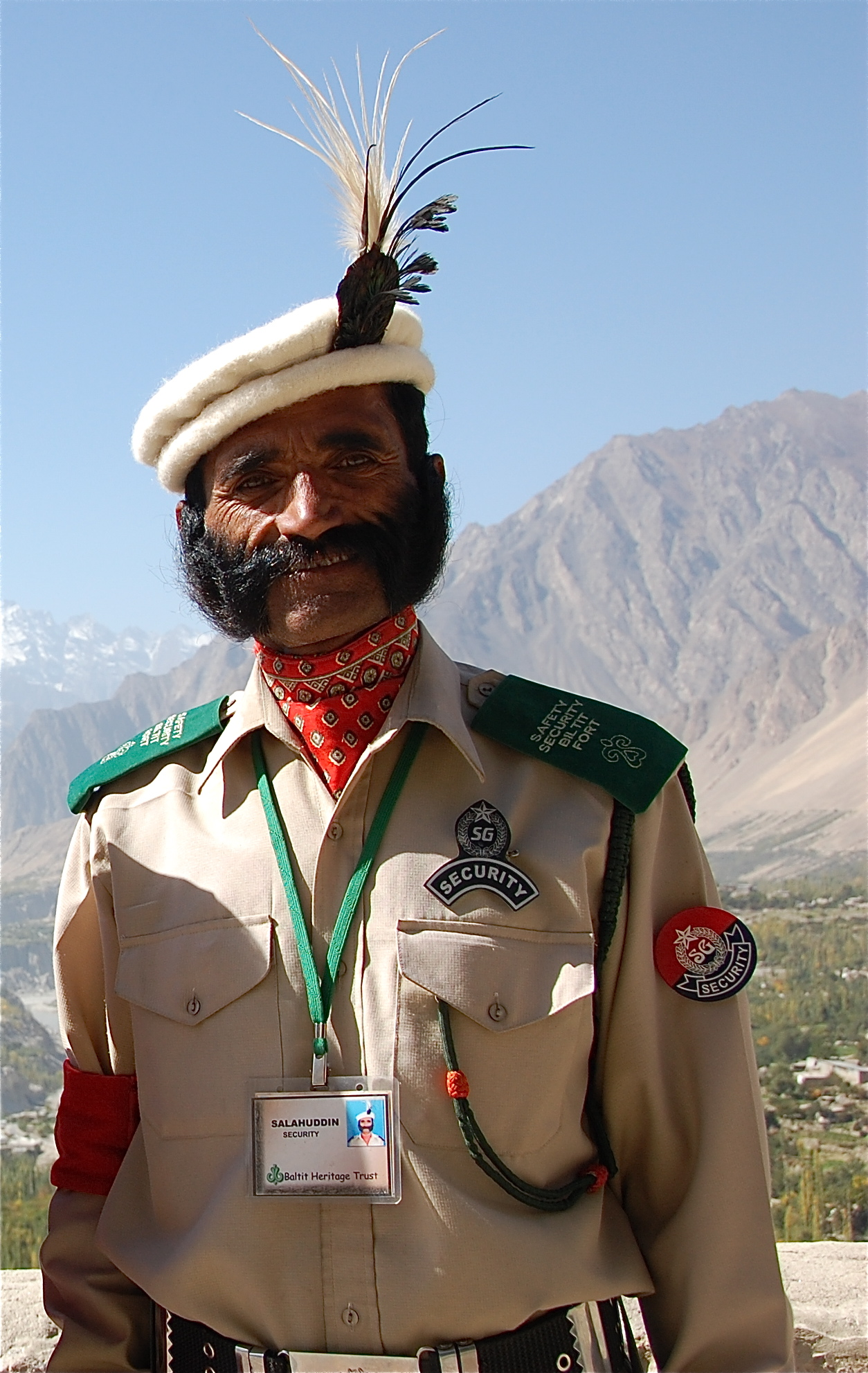 Security_officer_at_Gilgit_Fort