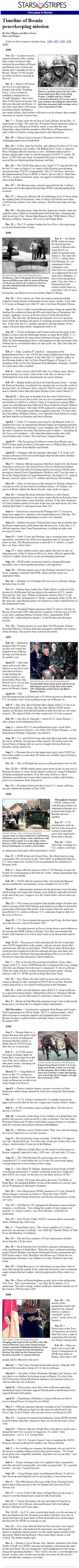 Five years in Bosnia