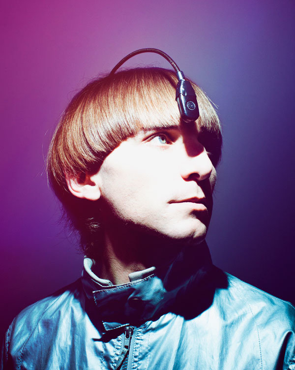 Here's an article by Nadja Sayej on Neil Harbisson and his implant that allows him to hear color, and his participation during the recent art fairs around NYC.