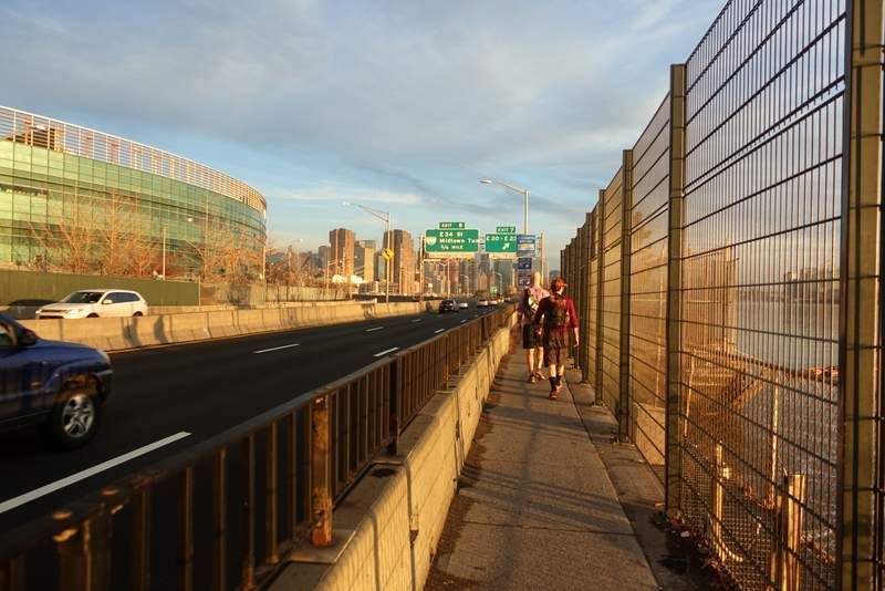 And you thought the Pulaski Bridge path was narrow.
