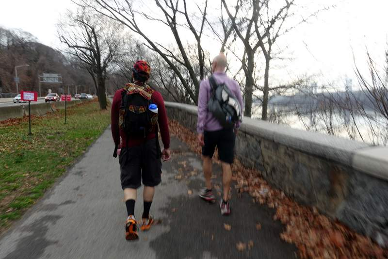 Sauntering the Hudson River Greenway.