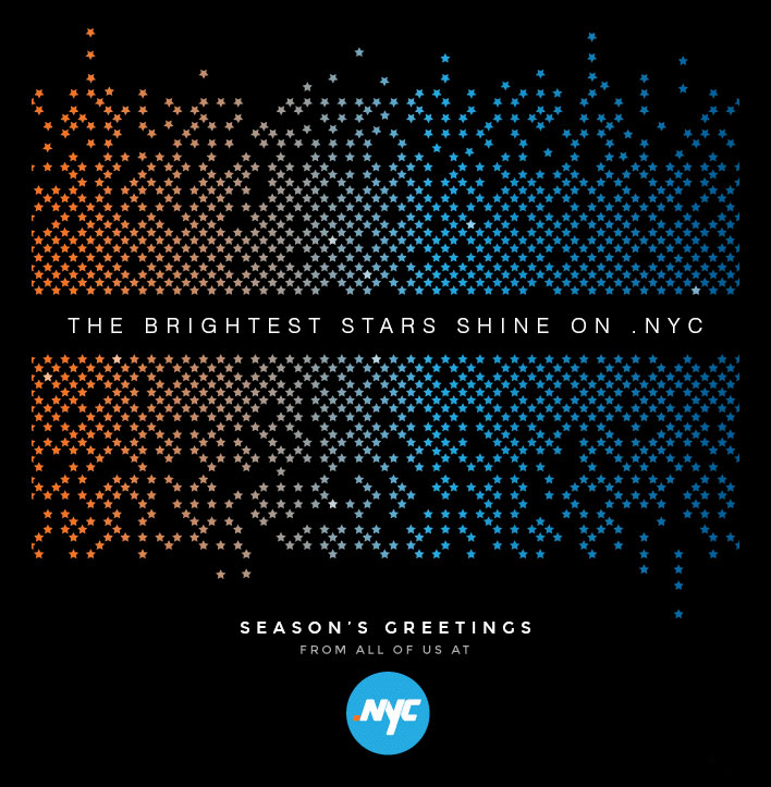 The Official Web Address for New Yorkers - .nyc - sent over this nice season's greetings.