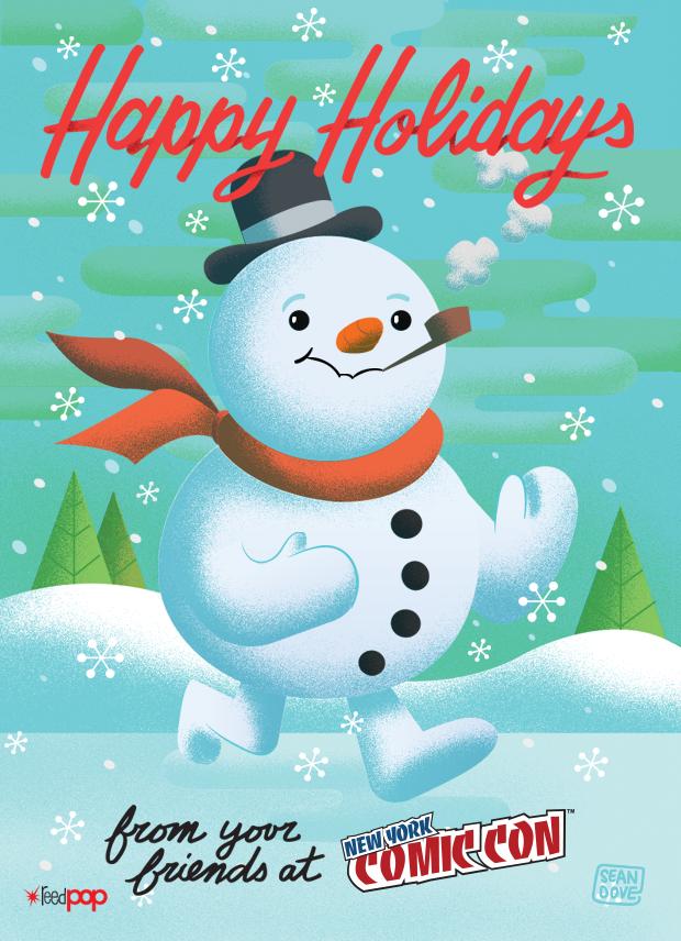 New York ComicCon sent over a holiday e-card.