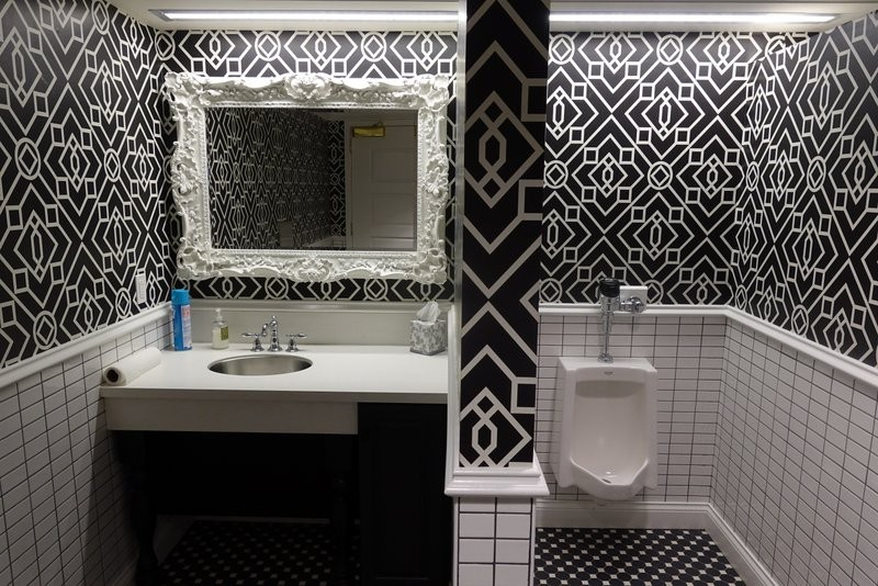 even the bathroom has style!
